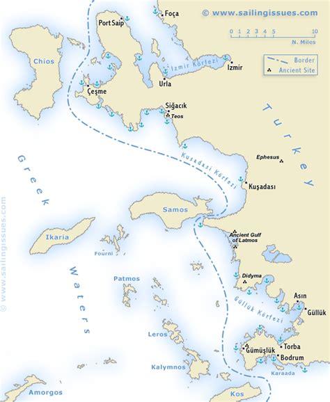 kusadasi port map turkey ionian coast sailing and yacht charters izmir
