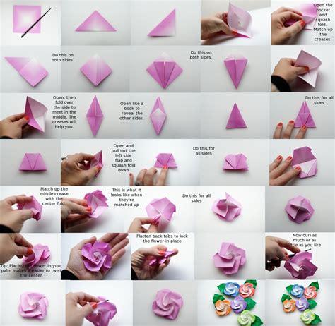 Rosa De Origami - como hacer flores de origami 161 divinas paso a paso