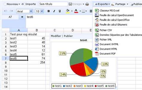 diagramme circulaire excel 2013 7 tableurs en ligne gratuits pour se passer d excel