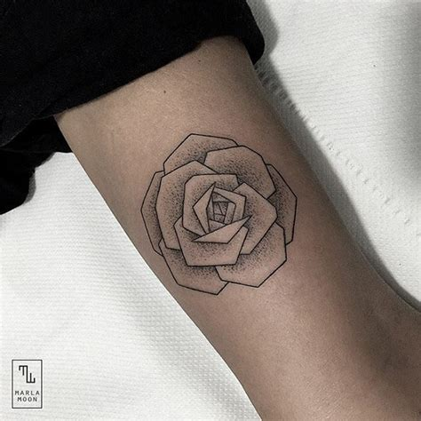 thrilling geometric black and white tattoos 3 fubiz media