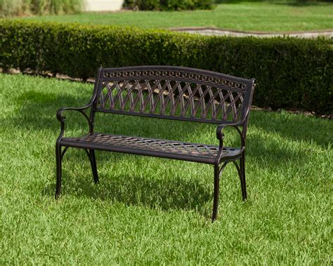 cast bench simone cast aluminum bench well traveled living