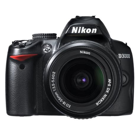 nikon d3000 10 2mp digital slr with 18 55mm f 3 5 5 6g af s dx vr nikkor zoom lens