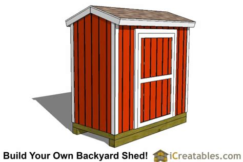 4x8 Sheds by 4x8 Backyard Shed Plans Icreatables