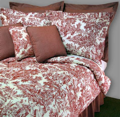 red toile bedding victorian girls bedroom decor with toile red bedding set