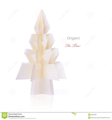 Origami Fir Tree - origami fir tree stock images image 35564094