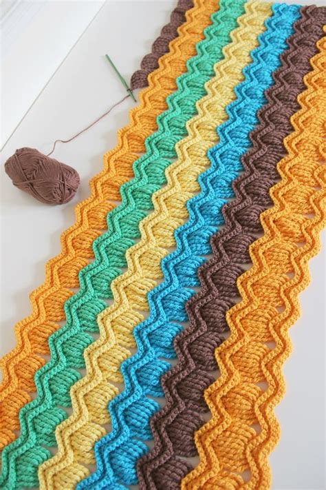 pattern library crochet crochet fan ripple blanket free pattern link here http