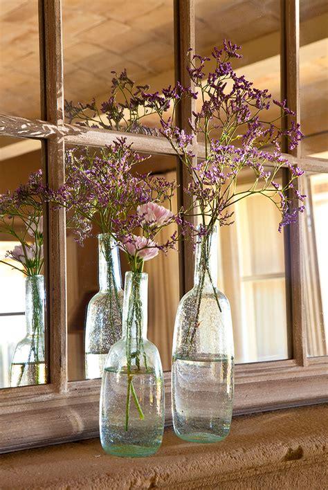 decoracion de botellas de vidrio vacias decorar con botellas de cristal