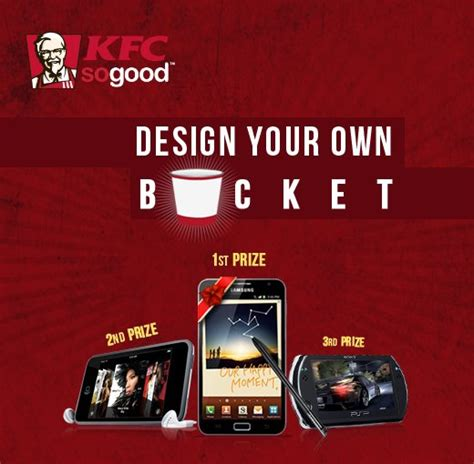 Kfc Sweepstakes - design your own bucket contest by kfc win smartphones india free stuff contests