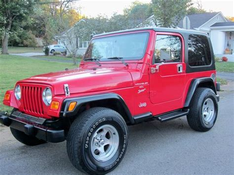 2000 Jeep Wrangler Automatic Sell Used 2000 Jeep Wrangler Sport Top Automatic
