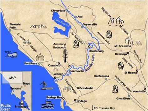 california map napa sonoma yountville california why cycle napa and sonoma