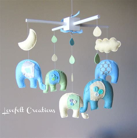 Baby Mobile For Crib Baby Mobile Baby Crib Mobile Eli Elephant Mobile Nursery