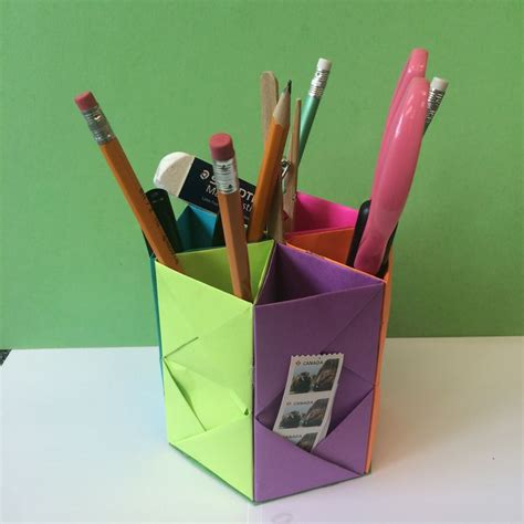 Origami Pen Stand - 1000 images about origami on