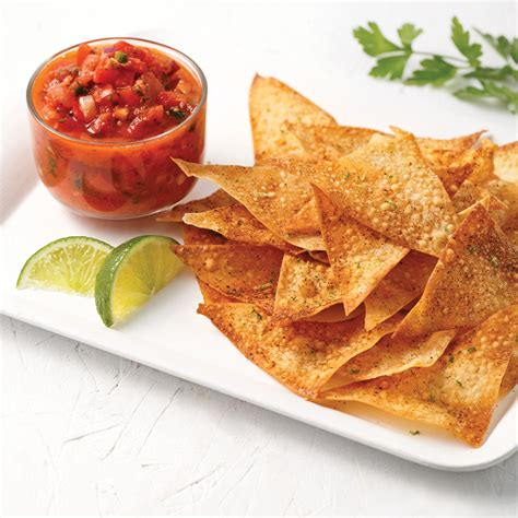cuisine recettes pratiques croustilles et salsa en version maison recettes