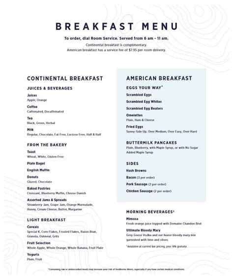 press room menu royal caribbean charges for room service revs menu