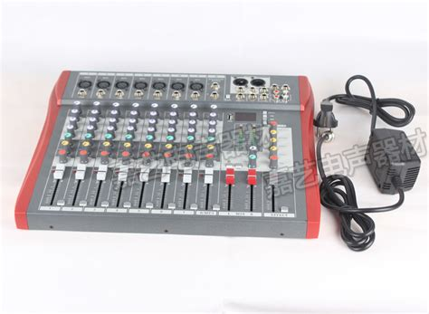 Mixer Audio Merk China high quality m8 usb mixer audio dj mixer stage performance wedding 8 channel ktv band effect usb