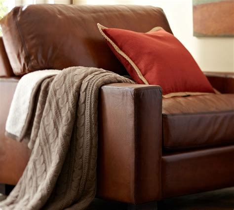 pottery barn leather armchair win the ultimate father s day gift our turner leather