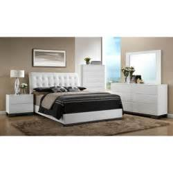 king bedroom sets image: avery  piece white king bedroom set