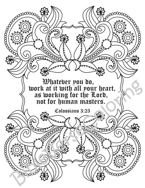 Colossians 3 Coloring Page by Colossians 3 23 Coloring Page Coloring Pages