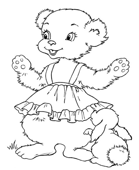 teddy bear with rose coloring page teddy bear coloring pages for kids coloring home