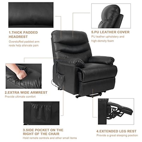 recliner lift up chair cheapest black merax power recliner and lift chair in black pu leather lift recliner chair heavy duty steel
