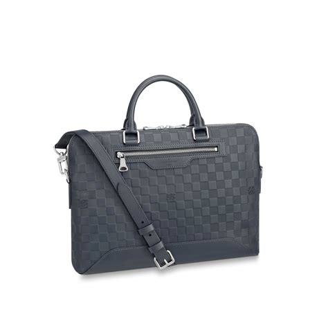 Tas Briefcase Lv avenue soft briefcase damier infini leather s bags