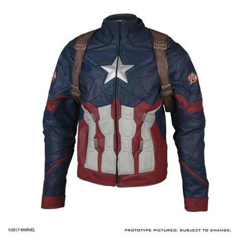 Capt America Jacket marvel captain america civil war inspired costume jacket pre order anovos productions llc