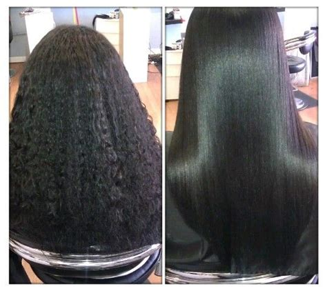 relaxed hair before and after before and after of a silky press to learn how to grow