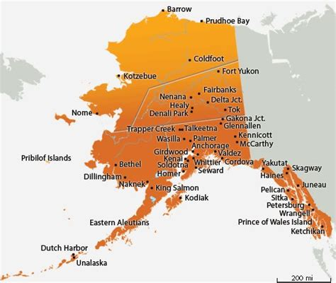 map of alaskan cities it s actually my goal to drive to alaska and see its
