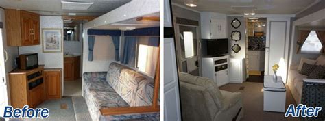 16 year jayco travel trailer gets interior decor makeover