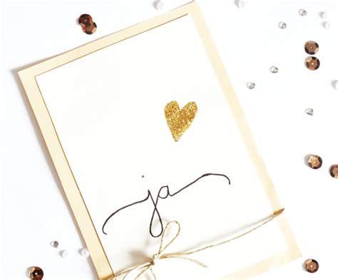 Einladungskarten Hochzeit Ja by Sch 246 Ne Einladungskarten Zur Hochzeit Selbst Basteln Auf