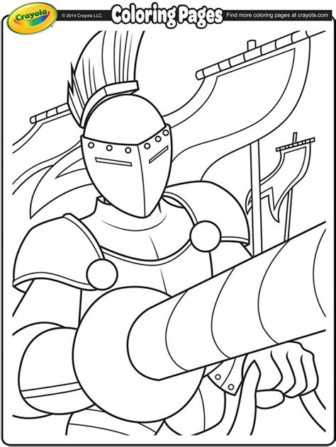 coloring pages knights jousting jousting knight coloring page crayola com