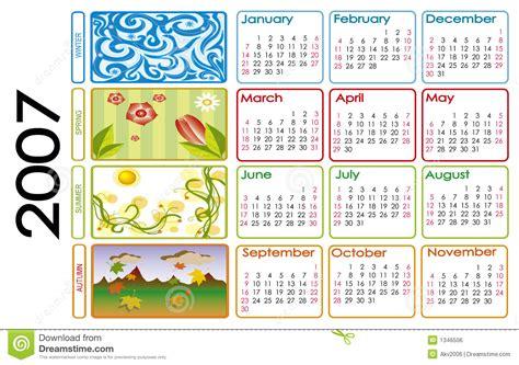 Calendario Enero 2007 Calendar For 2007 Royalty Free Stock Image Image 1346506