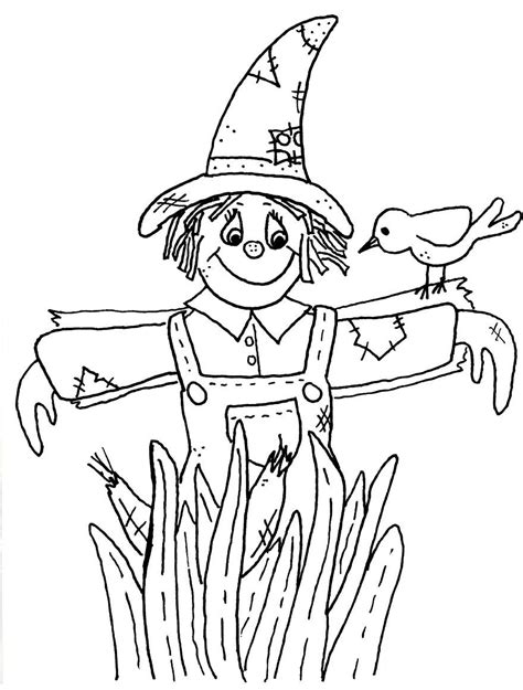 scarecrow coloring page scarecrow images coloring pages coloring home