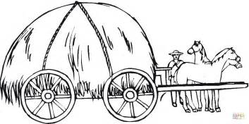 hay wagon coloring page free printable coloring pages