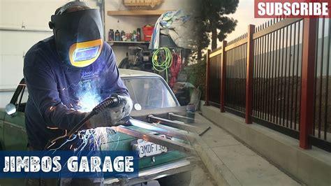 welding fence gate jimbos garage youtube
