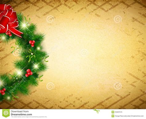 vintage christmas   background stock vector image