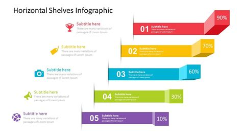 Horizontal Shelves Infographic Powerpoint Template Fully Editable Instantly Moin Pinterest Powerpoint Infographic Template