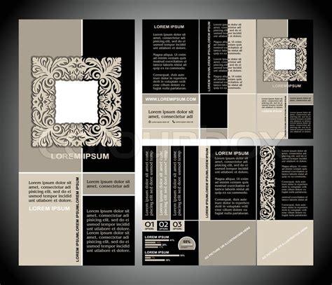 brochure template vintage vintage style brochure template design with modern art