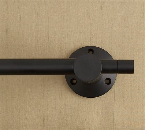 Curtain Hangers Decor Wall Mounted Black Curtain Hardware Rod For Home