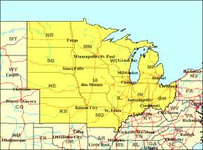 Midwest States Map by Pin Us Map Us By Region Map Midwest Southeast Northeast