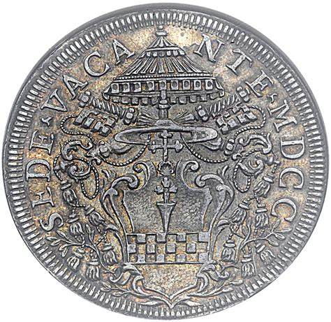 coin sede 1 piastra clement xi sede vacante papal states numista