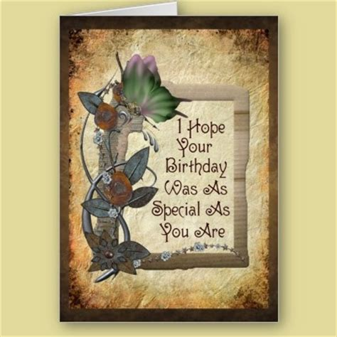 Metal Birthday Card Steunk Butterfly Metal Flowers And A Message For A