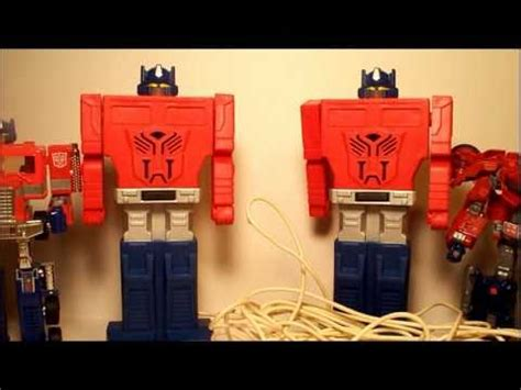 vintage  transformers electronic optimus prime telephone intercom system toy review youtube
