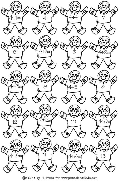 gingerbread math worksheets 117 best images about gingerbread activities freebies and more on sight word
