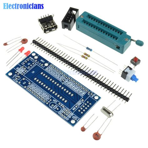 System Minimum Avr Atmega8 Atmega48 Atmega88 diy kit atmega8 atmega48 avr minimum system development board kits miniature mini electronic