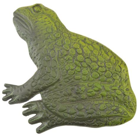 Decorative Frogs by Large Frog Stepping Green Cast Iron Garden Flagstone