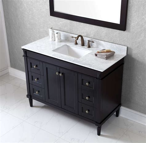 48 Black Bathroom Vanity 48 Single Bathroom Vanity Cabinet Espresso Black Galaxy Tile Source