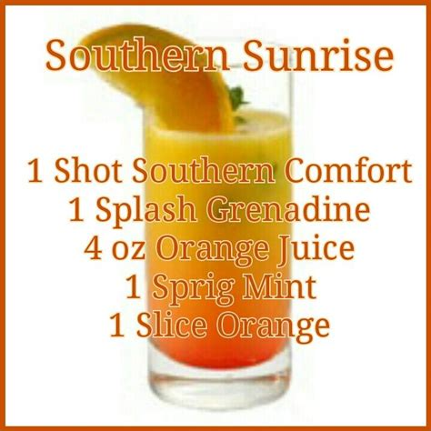 southern comfort apple juice southern sunrise recipe