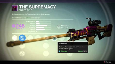 The Supremacy the supremacy legendary destiny s wrath event