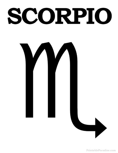 printable scorpio zodiac sign print scorpio symbol